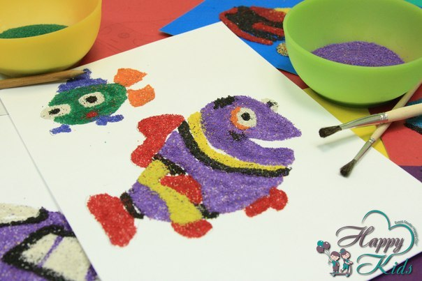 Картина из цветного песка мастер класс